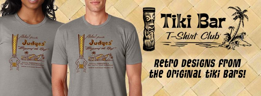 """Sunshine and Starshine are wearing shirts from  Tiki Bar T-Shirt Club  in the above picture. We love the soft cotton in both mens and women's sizes. Each month a new tiki bar design that always gets people asking """"where did you get that shirt"""". We LOVE Tiki Bar T-Shirt Club."""