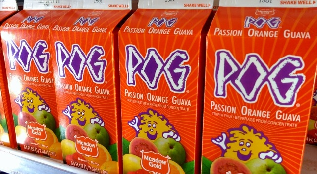 Meadow Gold makes the most recognizable version of POG juice but there are several on the market.