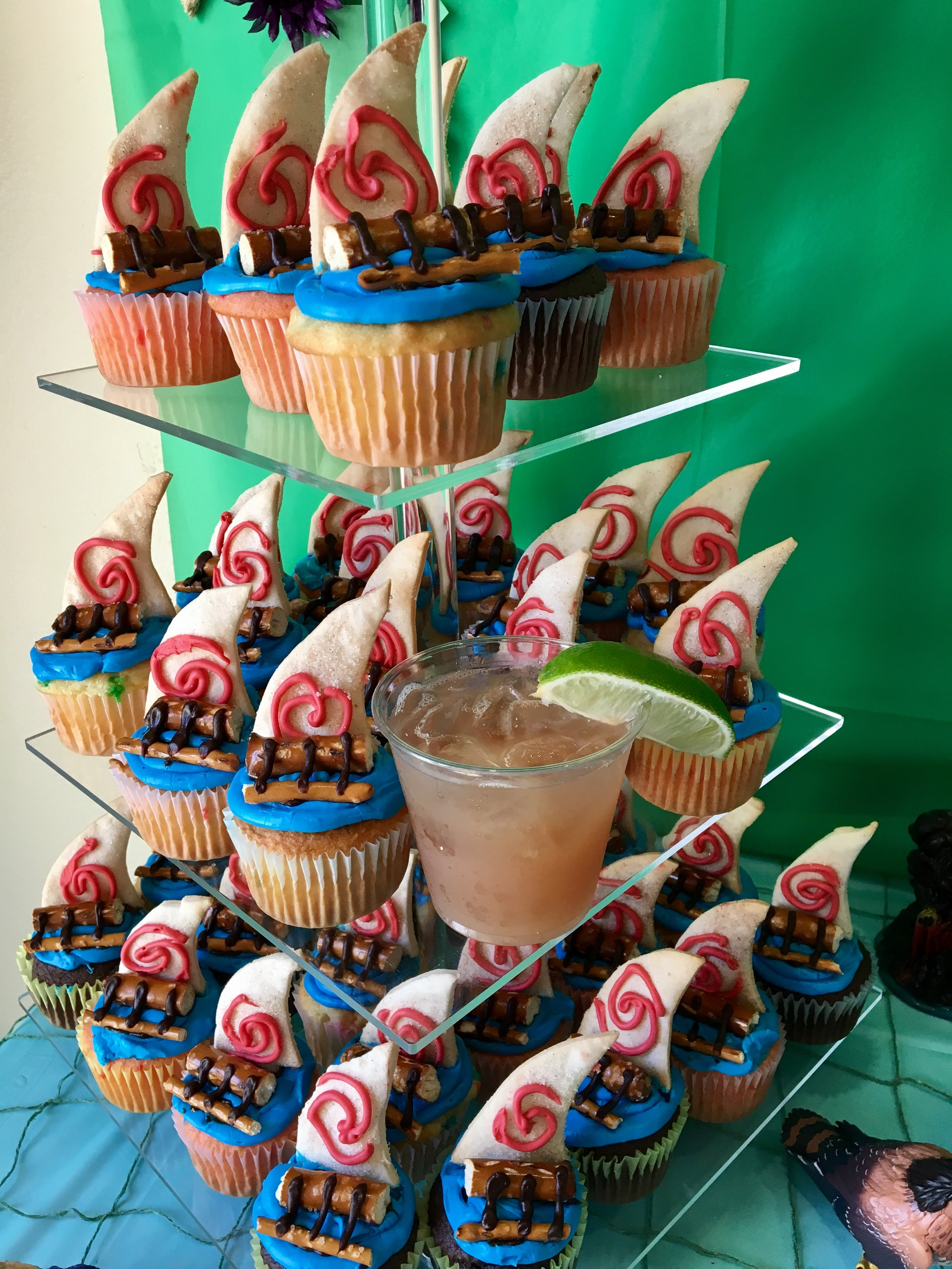 Which one of these cupcakes is not the same? Children's parties are often better when the big people server a light alcohol beverage.