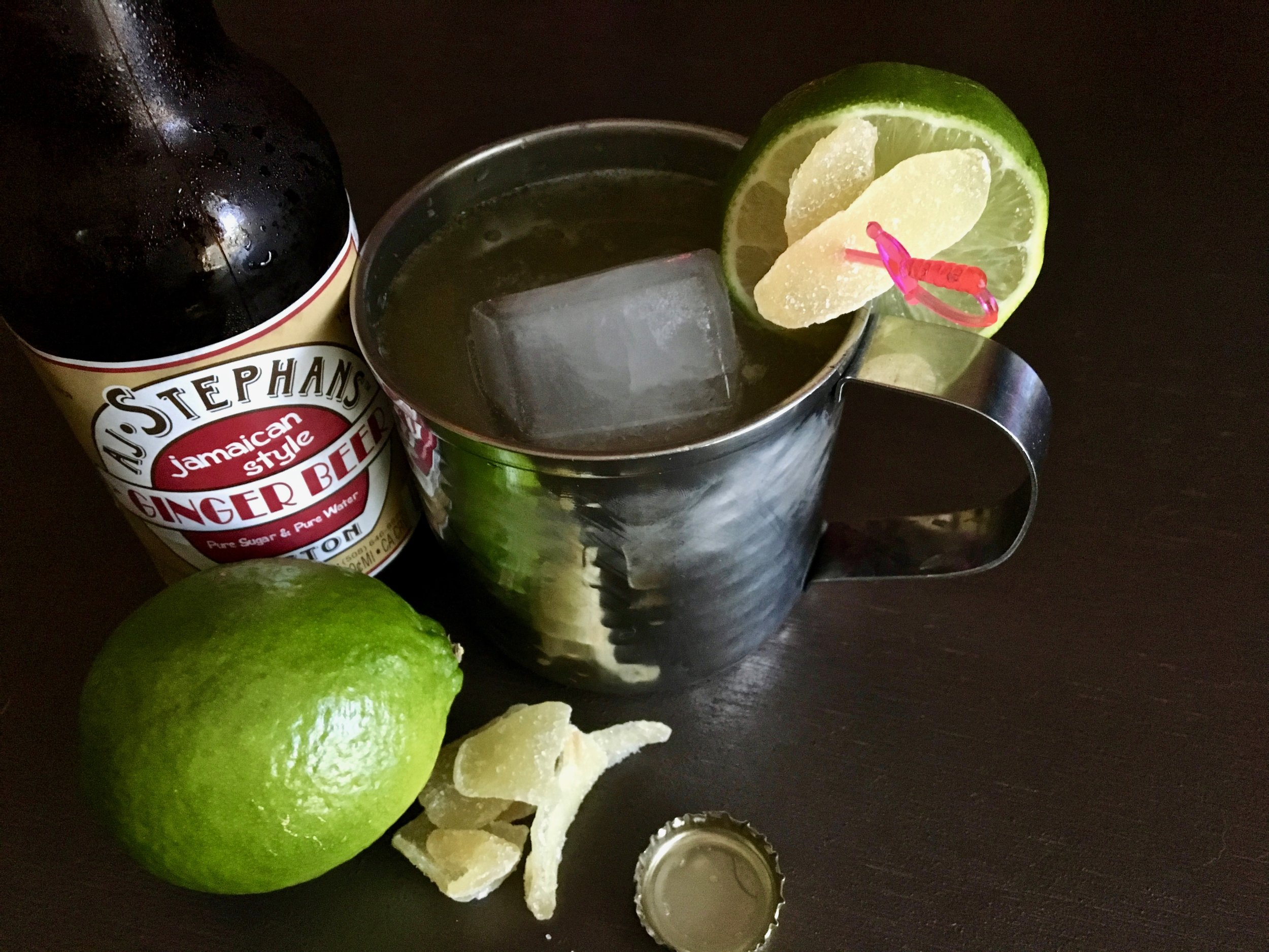 A better mule, the Russian Troll amps up the ginger and uses good ol' rum instead of flavorless vodka.