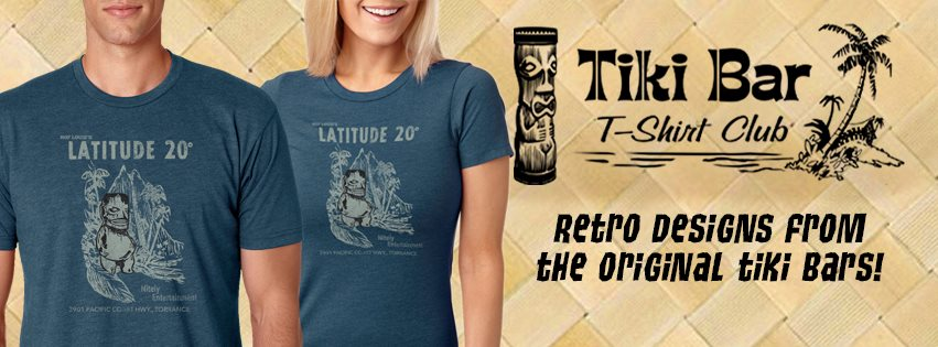 "Pumpkin said it best on this episode of the podcast...""these shirts are so soft and comfortable I look forward to coming home from work and putting on something that fits me right and looks great on a girl"".  A new design every month delivered right to your mail box or buy just one. We love  Tiki Bar T-Shirt Club!"