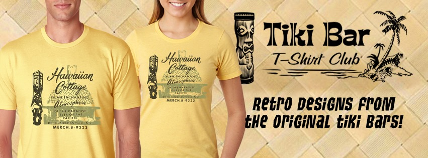 We love  Tiki Bar T-shirt Club . Every month a new shirt delivered right to your door through subscription. Or, go to the site and order just the one you want. Soft cotton T's that look great on everyone and come in a great range of sizes for men and women. Get your!!!