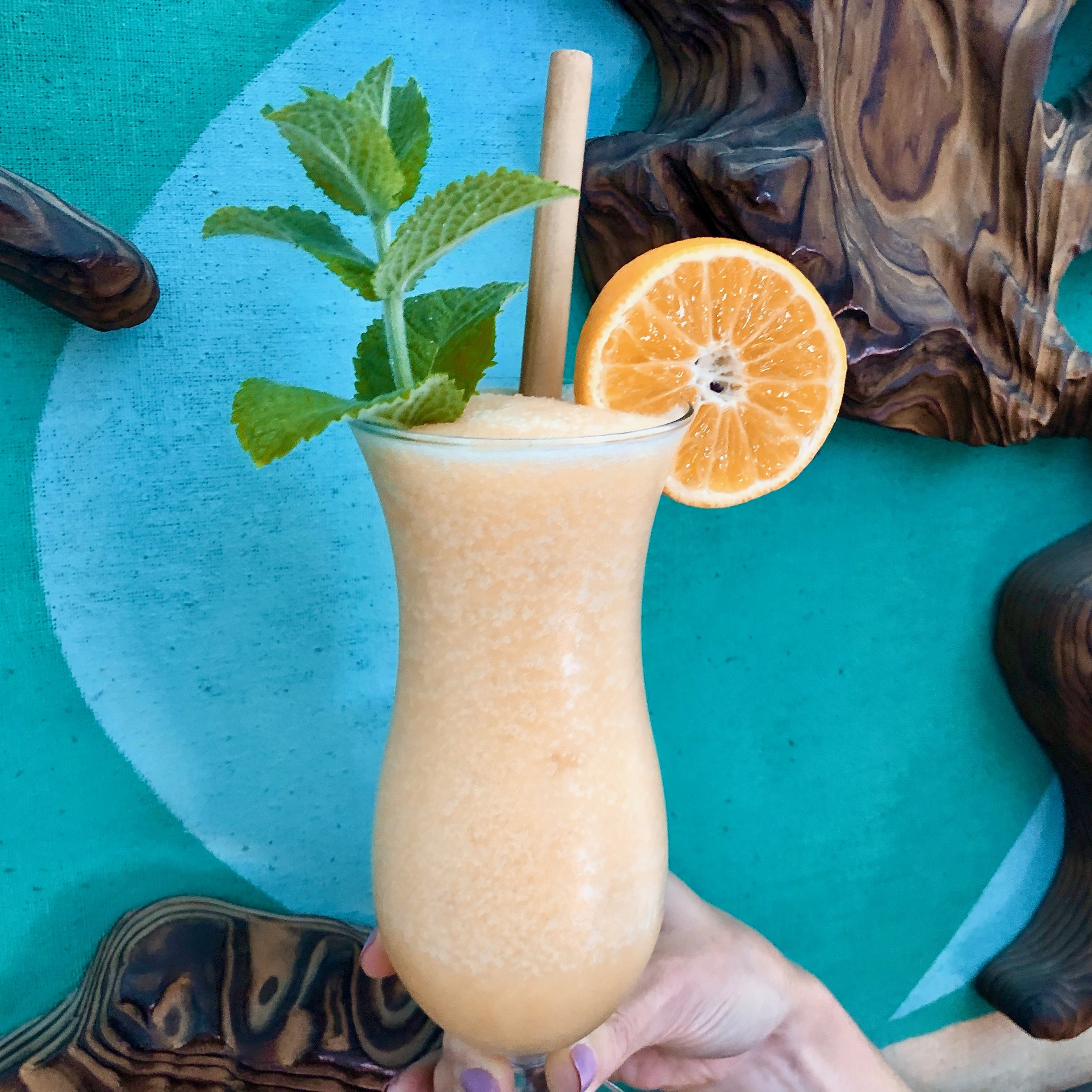 Bayou Swamp Slush is inspired by the Satsuma orchards of Louisiana and cane rum. Your blender will enjoy this unique concoction as mush as you do.