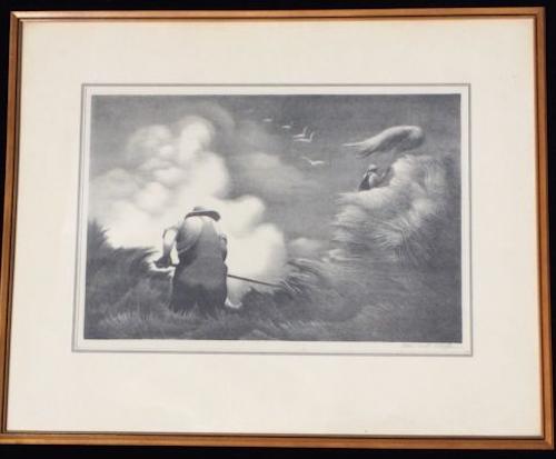"BERNARD STEFFEN (1907-1980) USA Print ""Haying"" circa 1937 SOLD $510"