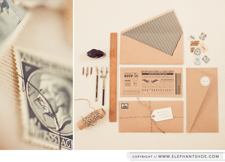 Wedding Invitations design and printed for Lauren & Royston | Photo by : Blackframe Photography