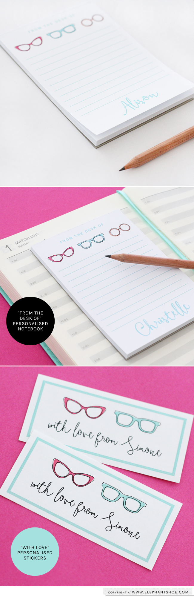 Personalized Elephantshoe Notebook