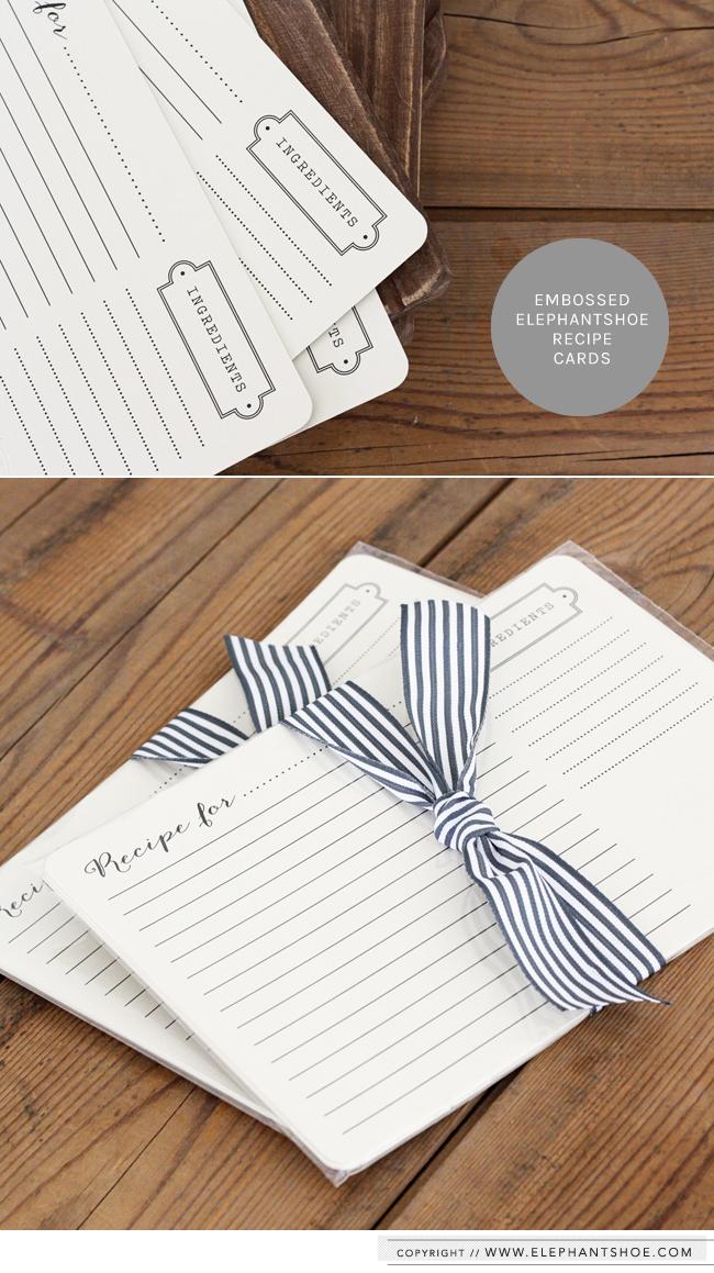 Recipe Cards Elephantshoe