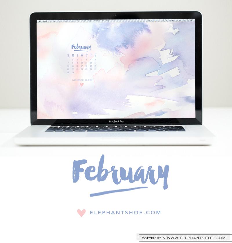 Free Desktop Calendar Pantone Rose Quartz Serenity