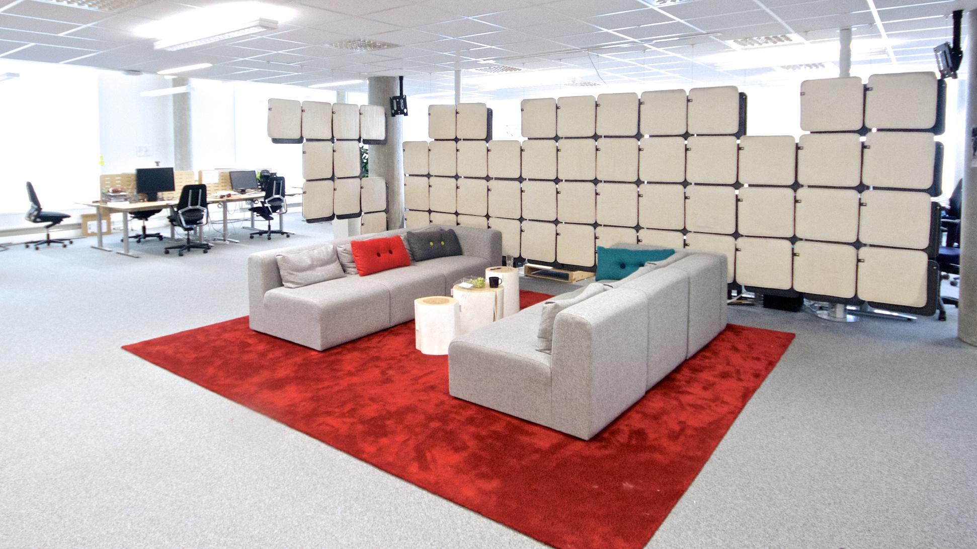 akustisk løsning på kontorlokale
