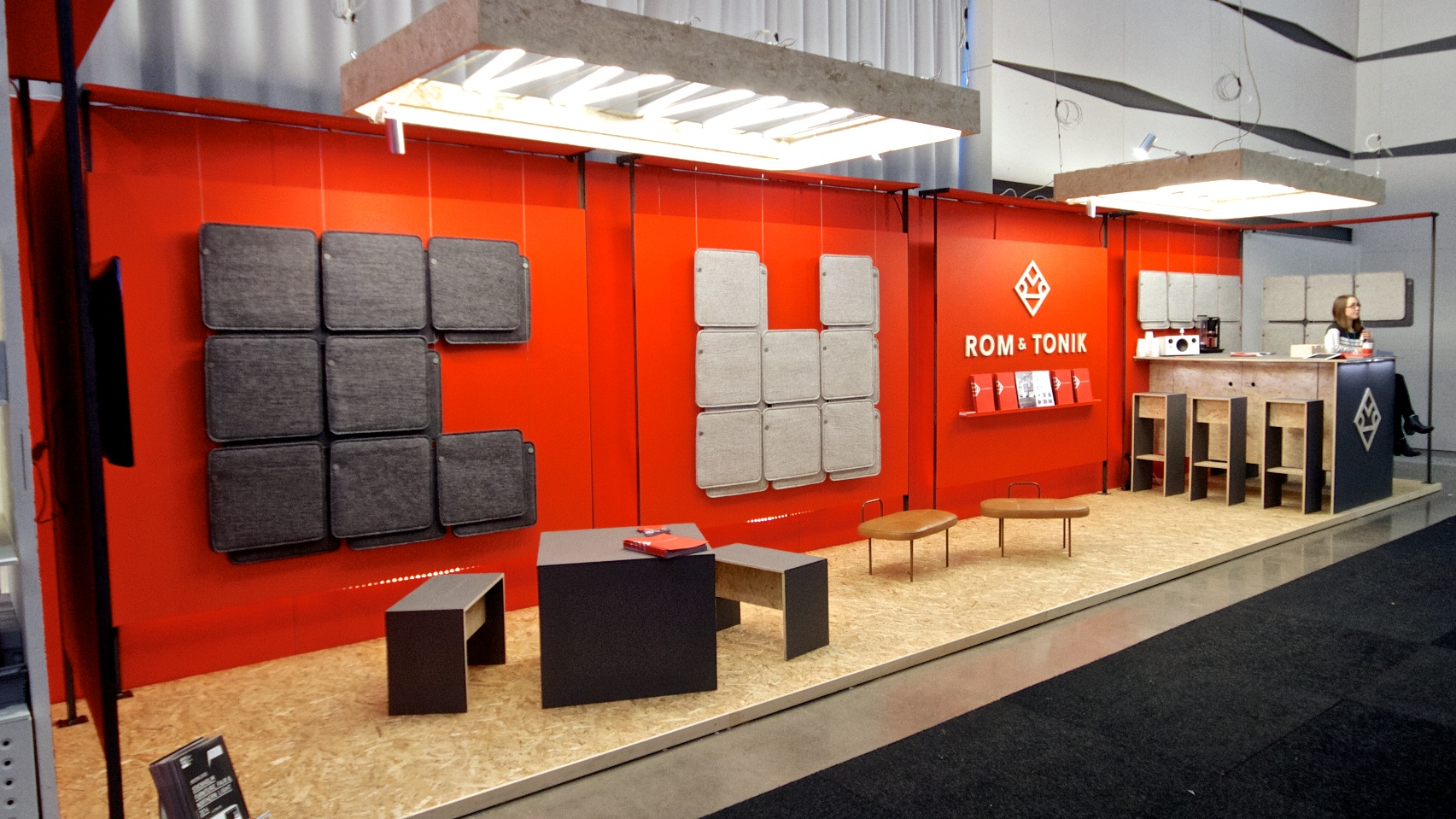 We designed and built the stand ourselves. Quite the extensive project, but we are really happy with the result!