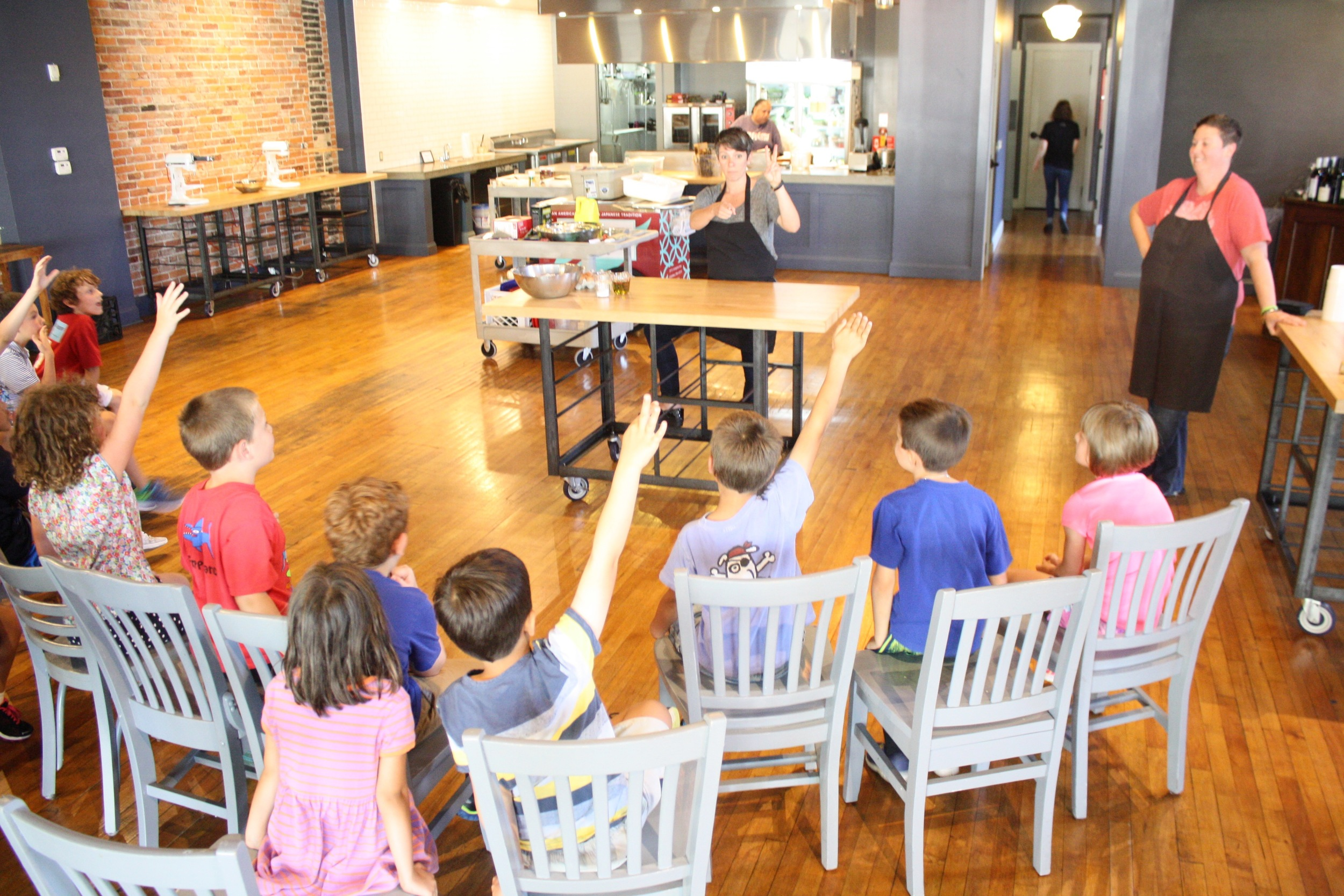 Campers from St. Joseph Montessori School's Summer Learning Camp had a great time learning to cook fresh pasta with The Kitchen!