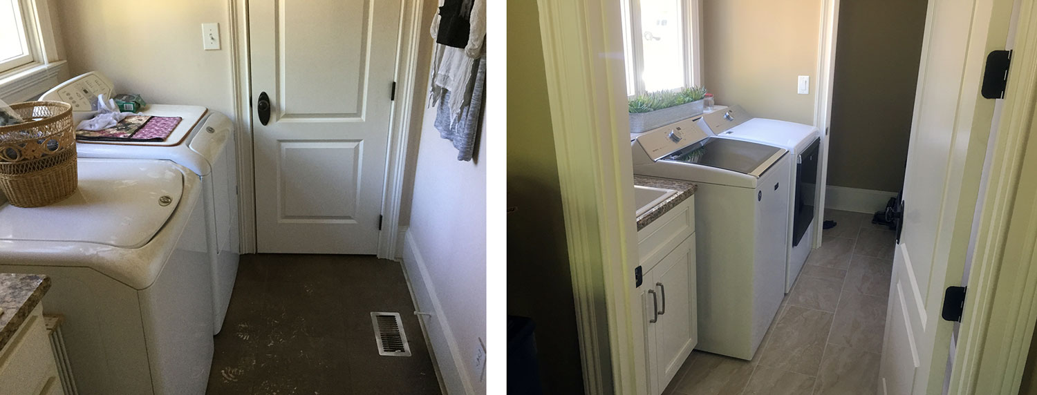 Laundry Room: Before / After