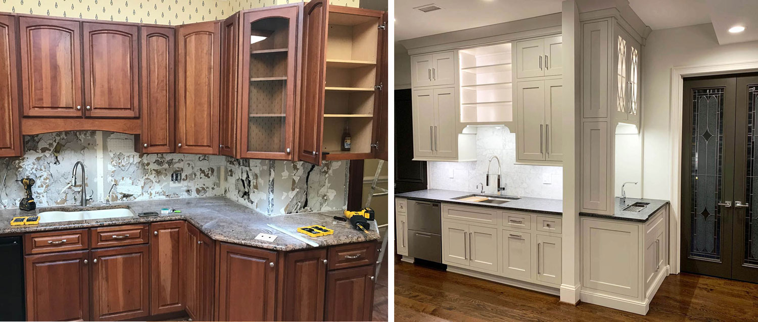 kitchen cabinets: Before & After