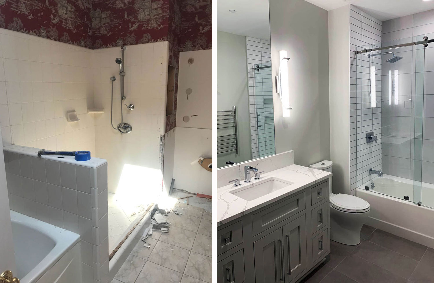 master bath: before & After