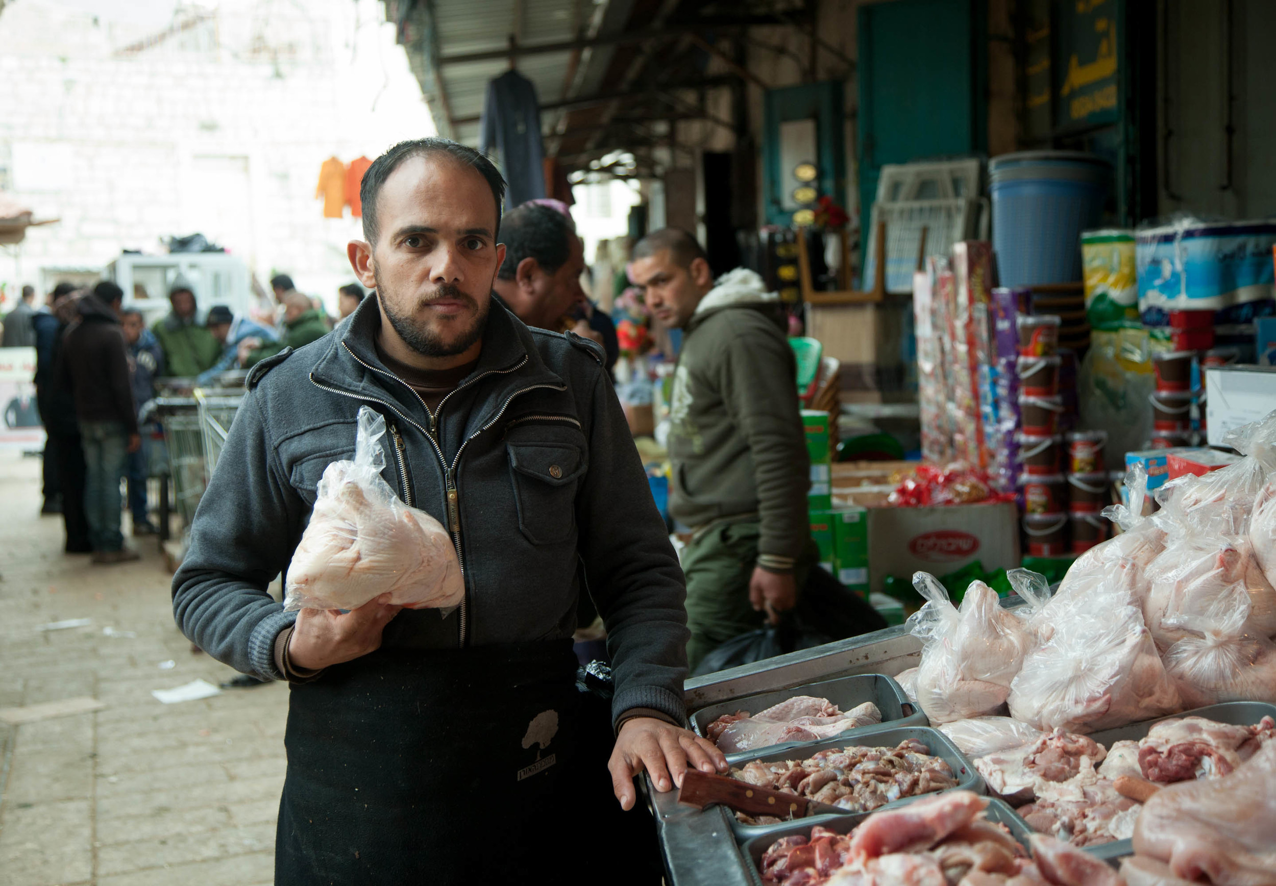 butcher, middle east markets, palestine, bethlehem, documentary photography, street photography, travel photography