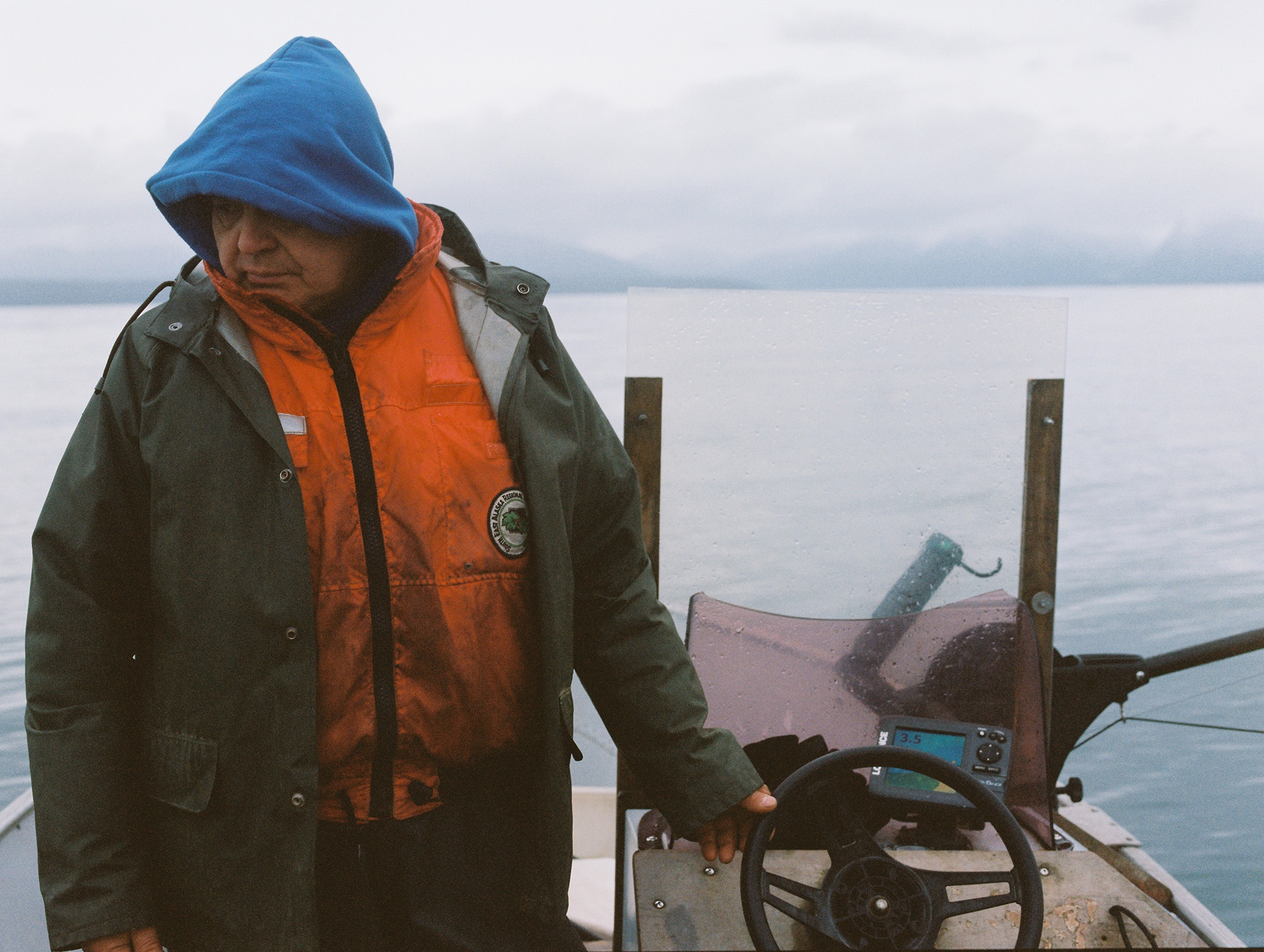 Fishing with Raino. Went out looking for King Salmon, instead got quite a bit of rain and a lot of stories and history of the land.