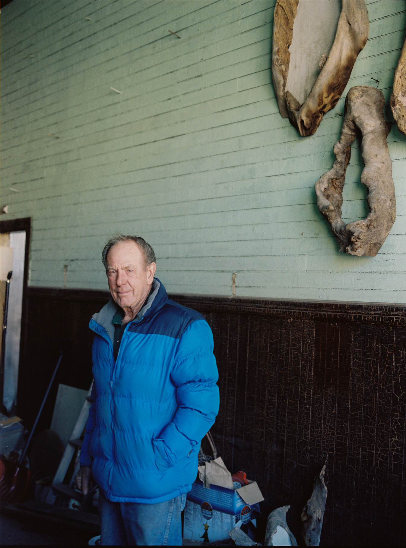 Billy, the man who owns Main Street in Eureka and keeps all the buildings maintained. Eureka, population 682. Winter 2010.