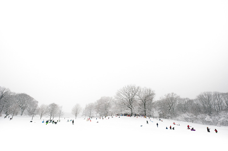 Sled Riding Hill by Joseph Holmes   Archival Pigment Print
