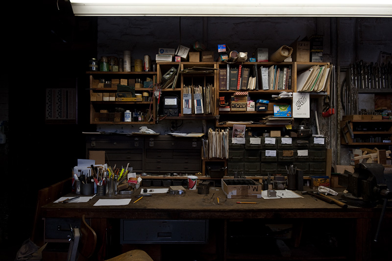 Hugo's Workbench  by Joseph Holmes | Archival Pigment Print