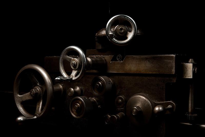 Carriage, Davis Engine Lathe by Joseph Holmes | Archival Pigment Print