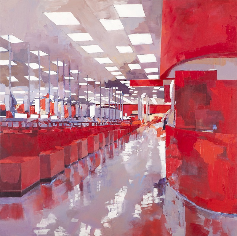 Altar in Orange by Michelle Muldrow | Acrylic on Canvas