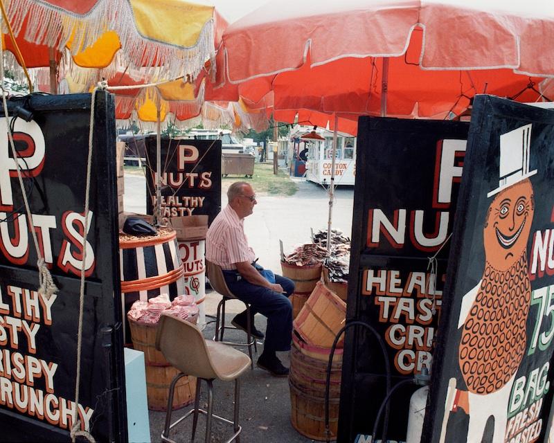 Mr. Peanut, Missouri State Fair, Sedalia, Missouri, 1985 byMike Sinclair  Archival Pigment Print