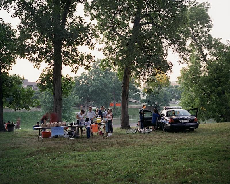 Movie Night, Kansas City, Missouri, 2005 byMike Sinclair  Archival Pigment Print