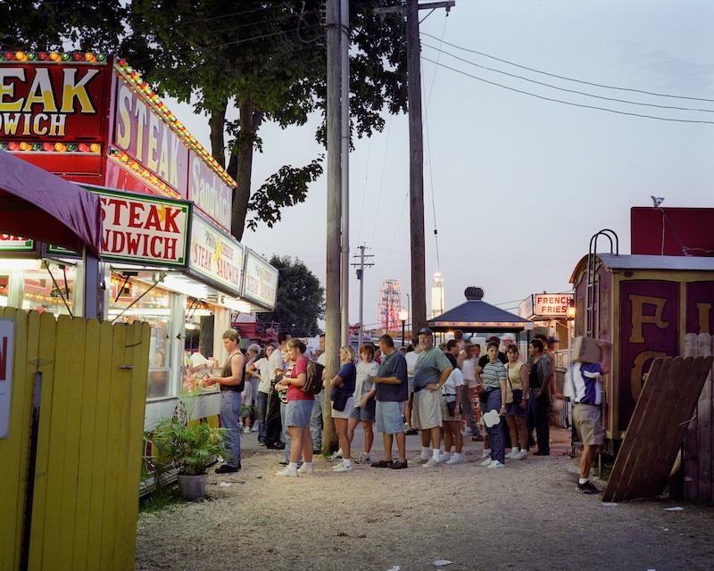 Steak Sandwich Stand, Iowa State Fair, Des Moines, Iowa, 1997 byMike Sinclair  Archival Pigment Print