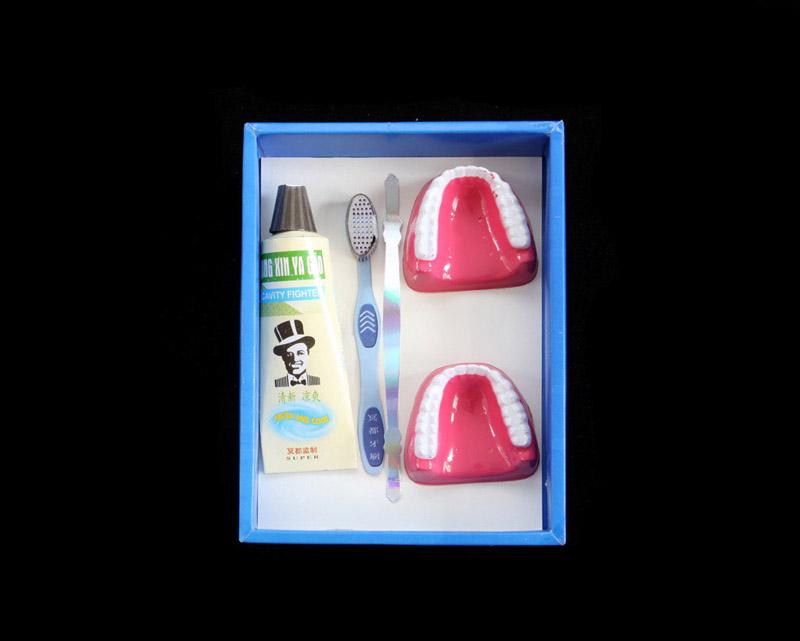Dentures, Toothpaste, and Toothbrush byKurt Tong| Digital C-Print