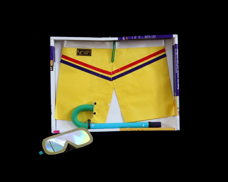 Swimming Trunks, Goggles and Snorkel byKurt Tong| Digital C-Print