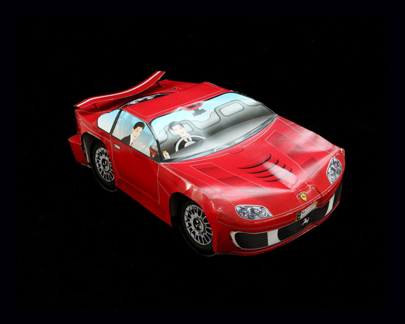 Ferrari With Chauffeur  byKurt Tong| Digital C-Print