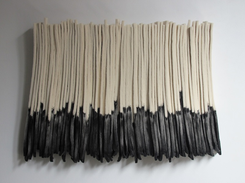 Untitled by Devin Rutz  Felt, Ink and Copper