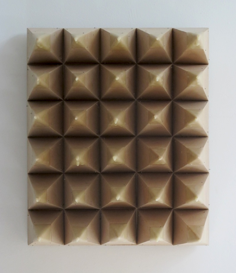 Untitled by Devin Rutz  Beeswax and Plywood