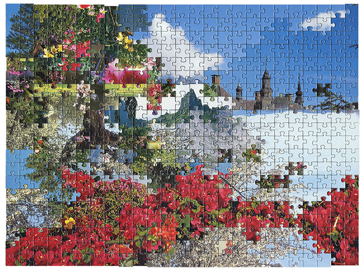 Puzzle #4 by Kent Rogowski | Puzzle Assemblage and Digital C-Print