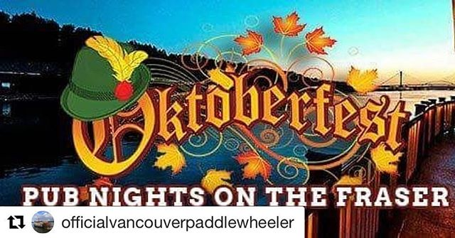 Join @officialvancouverpaddlewheeler tonight and next Friday for their Oktoberfest Riverboat Tour and #trachtup with our original German Lederhosen and Dirndls. Prost 🍻 #Repost @officialvancouverpaddlewheeler with @get_repost ・・・ OCT 12 & OCT 19 Join Paddlewheeler Riverboat Tours as we celebrate Oktoberfest our way!  Our DJ will be playing Folk music, Our chef will be cooking up some german pub style food and Our bartender will be mixing up some special cocktails.  Bring your friends, co-workers or family and enjoy our 2 night only event!  Tickets: $39.95 + tax  Time: 7:00pm-10:00pm (Boarding 6:30pm)  Call our office to reserve your spot! 604-525-4465 #paddlewheeler#newwest#oktoberfest#october#fallevents . #vancouver #vancity #oktoberfest octoberfestvanvouver #rentyourtracht #trachtup #germanyinvancouver