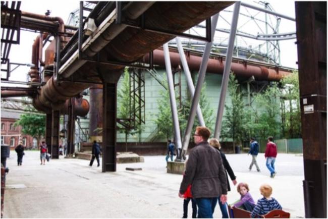 Activity in Duisburg-Nord Landscape Park