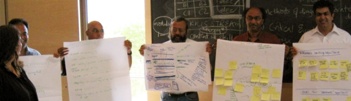 Participants sharing results from Master of Urban Practice course. IIHS is built on an interactive and collaborative process in which the MIT team worked with partners all over the world, especially from India and the global south. Source: IIHS.
