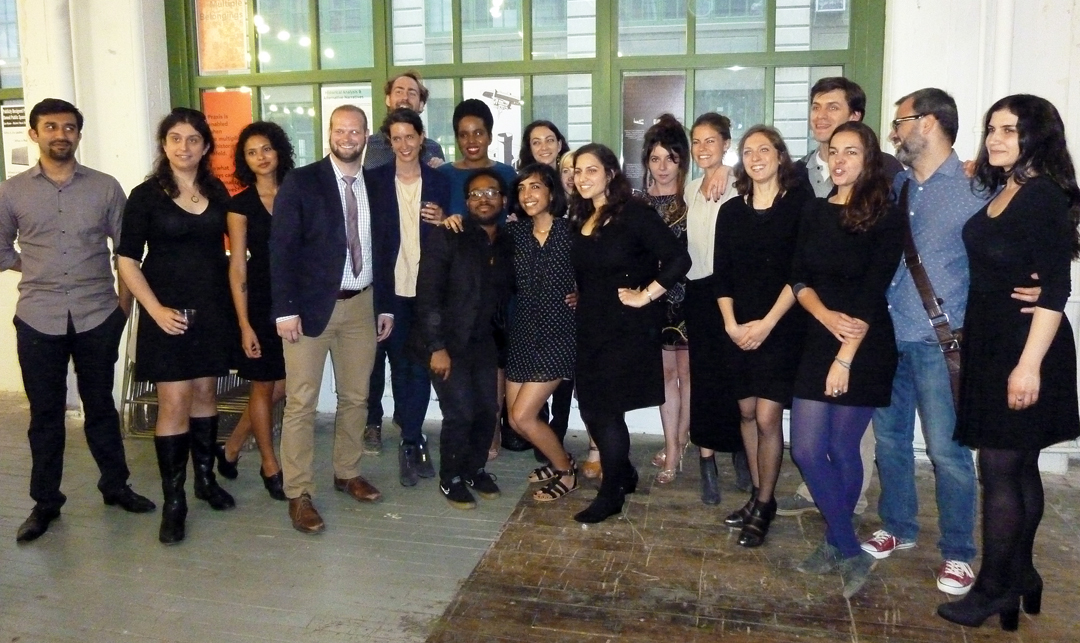 Students of the highly innovative MA Theories of Urban Practice program [of which I was the founding Director] of the Parsons School of Design in The New School in New York City. The students organized a public symposium of their work in Brooklyn in 2015. Source: Aseem Inam.
