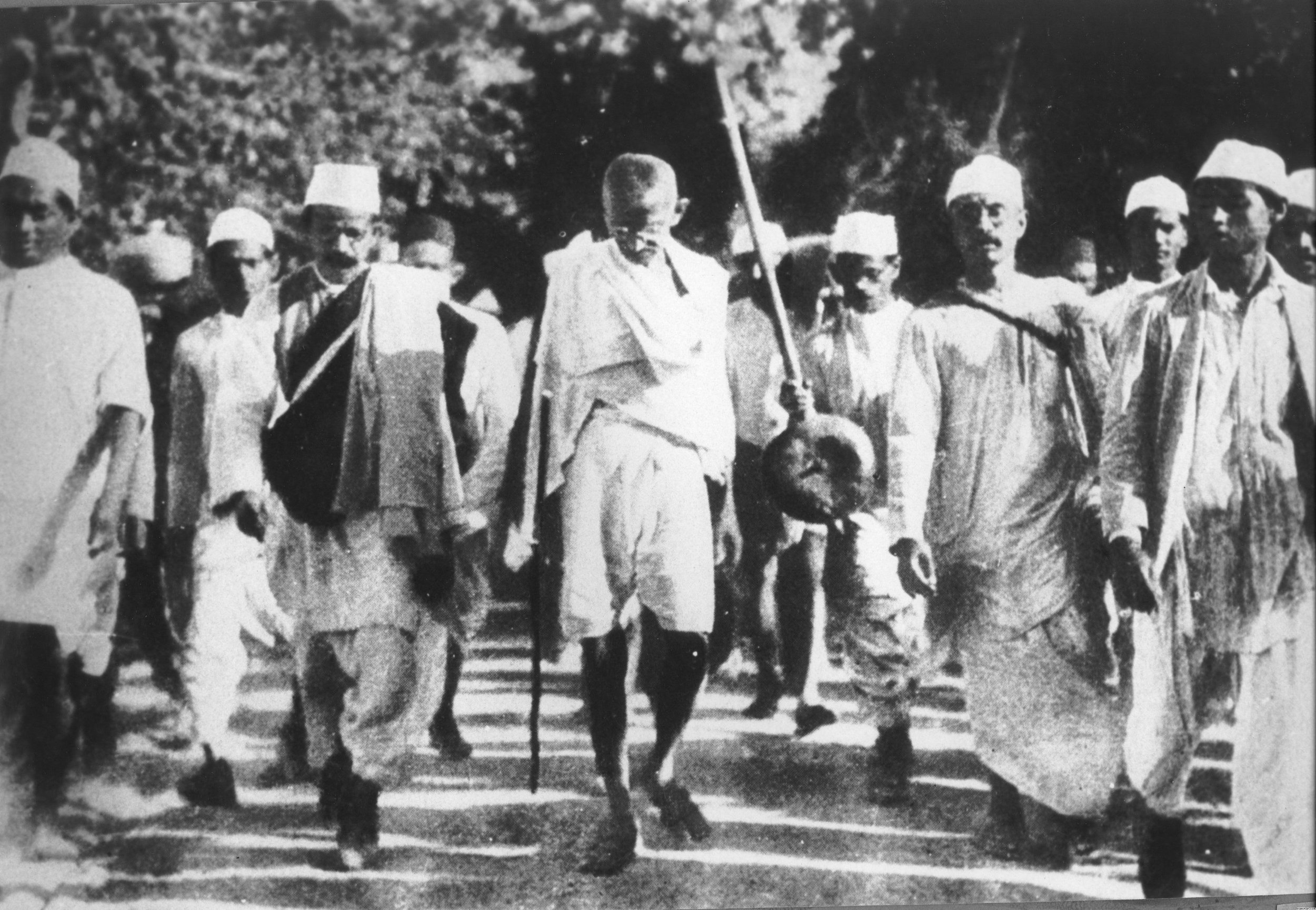 If one looks carefully and critically enough, one can find many sources of inspiration from collective actions that led to transformation throughout history. A brilliant example is when nearly 400 million Indians threw off the oppression of British colonial rule through nonviolent political strategies under the leadership of Mahatma Gandhi and others. Source: Wikipedia.