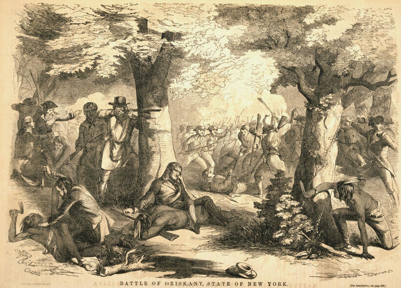 Battle of Oriskany, by John Reuben Chapin, 1857