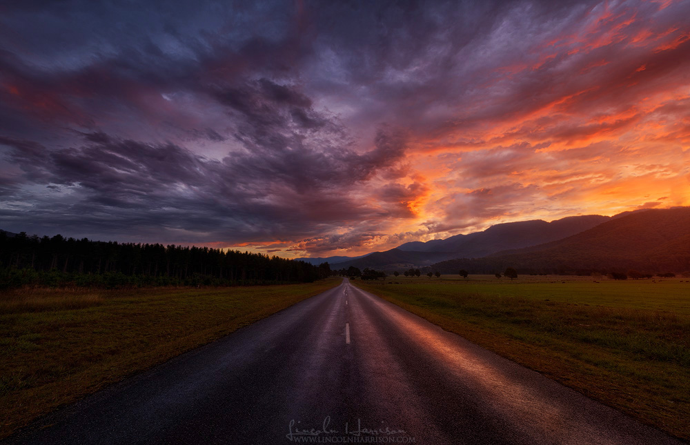 Buckland Valley, Victoria. This scene caught me by surprise, I'd packed up and headed home from another location due to rain, then this happened.