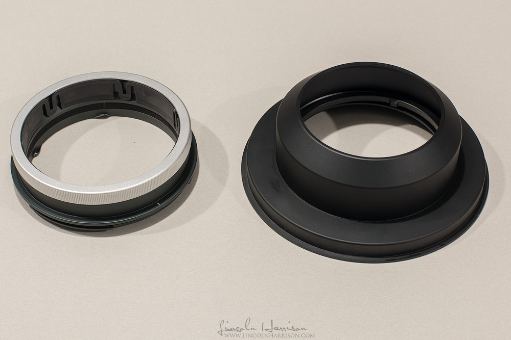 G150Z ring on the left, G150X ring on the right.