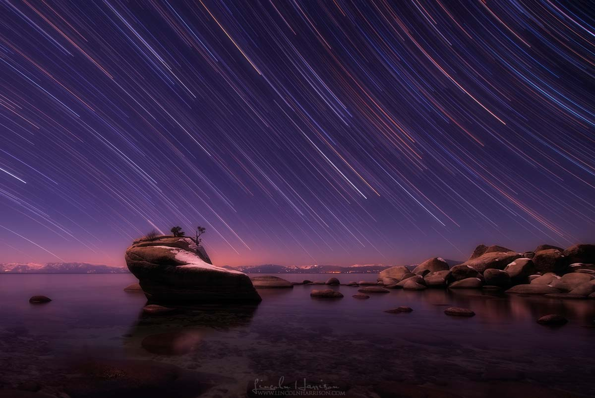 Lake Tahoe Startrails Bonsai Rock