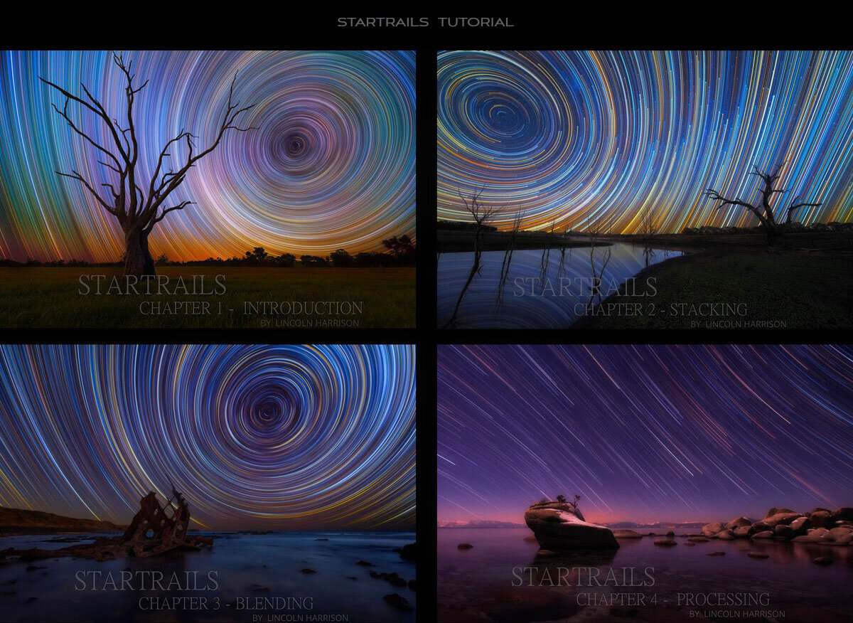 Startrails processing tutorial by Lincoln Harrison