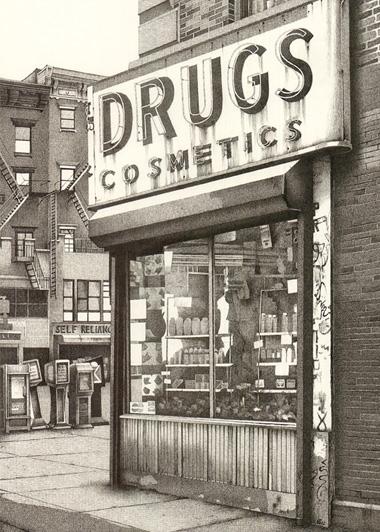 'Drugstore Manhattan'  A6 Greetings Card