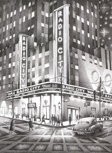 'Radio City New York'  A6 Greetings Card