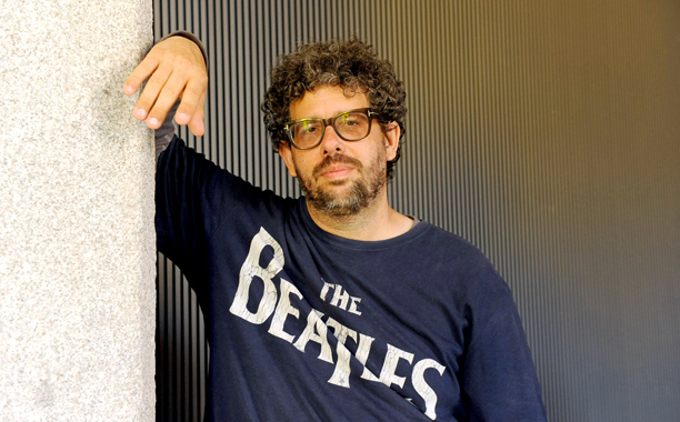 Neil LaBute, not smiling.