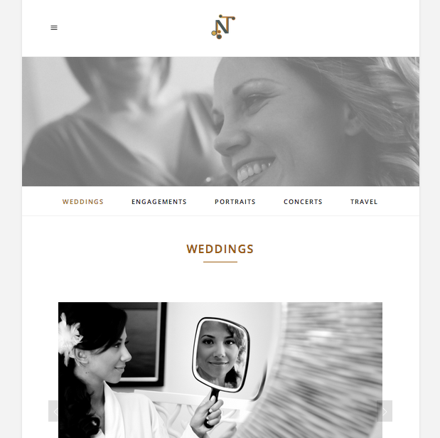 Screenshot of the weddings gallery. I know, I know. Website in the website. So meta.