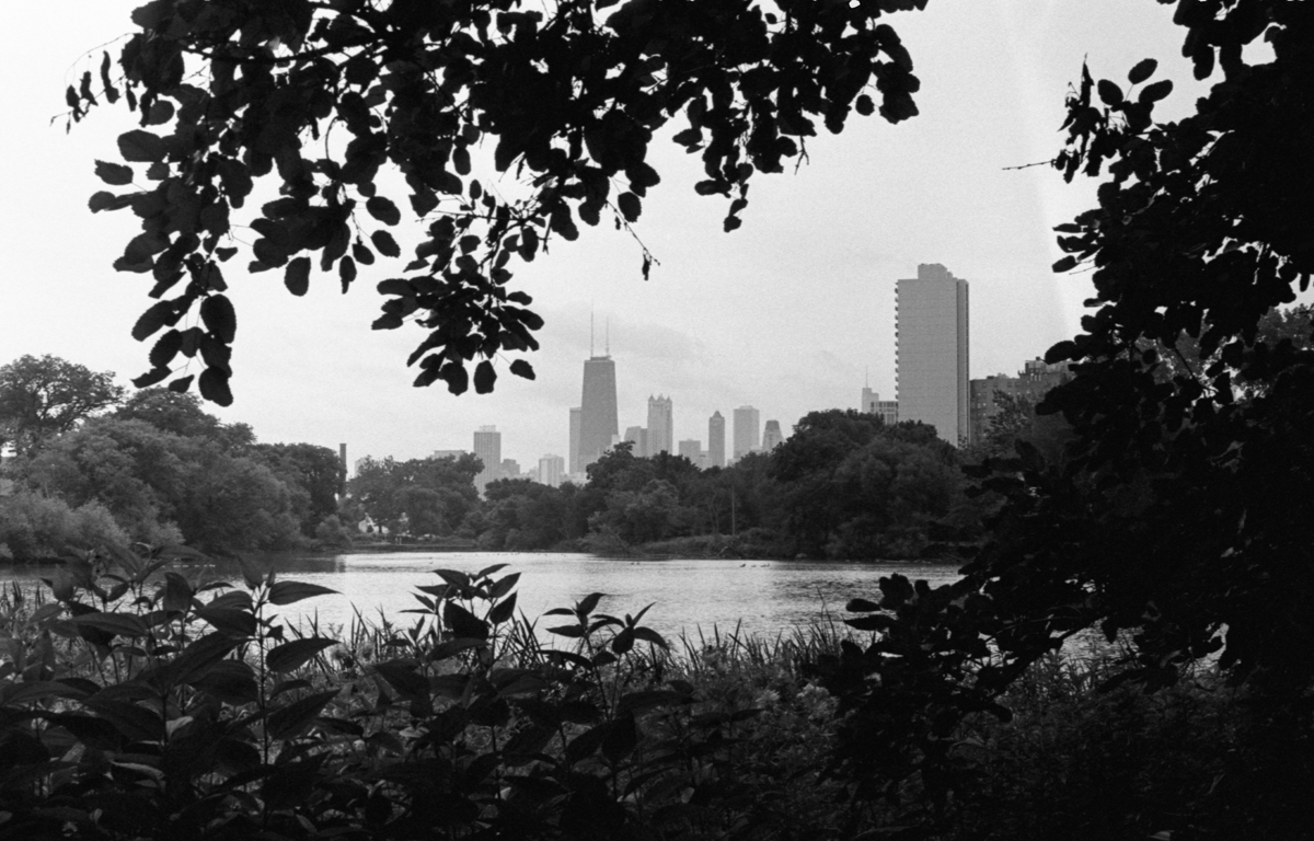 North Pond in Lincoln Park Kodak Tri-X 400