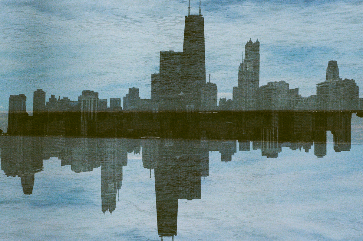 Skyline double exposure Kodak Ektar 100